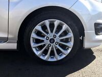 Brand new fiesta zetec s alloy wheels with new continental tyres