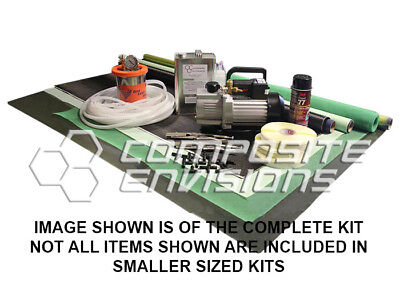 Carbon Fiber Vacuum Infusion Starter Kit - Complete Kit w Vacuum Pump Resin Trap for sale  Shipping to Canada