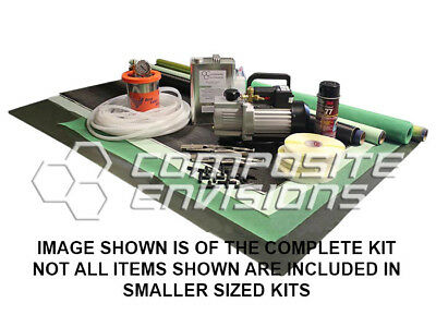 Carbon Fiber Vacuum Infusion Starter Kit - Complete Kit w Vacuum Pump Resin Trap