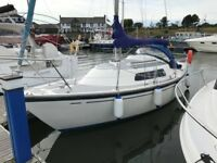 Hurley 24/70 Fin Keel 1974 - ASHORE IN CONWY - Ready to Sail