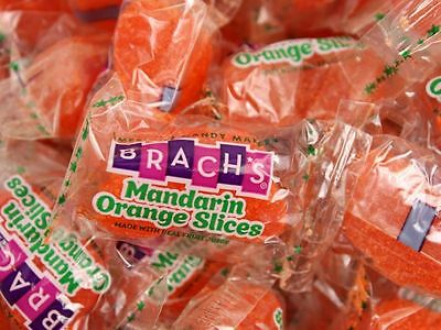 Brach's Mandarin Orange Slices 2 POUND Bulk Wrapped Jelly Candy FREE SHIPPING - Mandarin Orange Candy