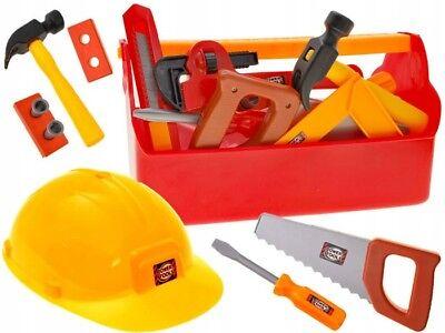 Werkzeuge Kinder Werkzeugkasten mit Helm SchraubendreherKinder Werkbank NEU