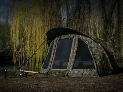 Saber Camo Carp Fishing Bivvy Day Tent Shelter Brolly System + Ground Sheet DPM