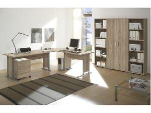 Büro Office Line Superset Sonoma Büromöbel Komplett Schreibtisch Regal 109644