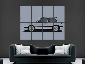 VW GOLF MK2 VOLKSWAGEN CAR   HUGE LARGE WALL ART POSTER PICTURE