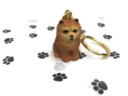 Chow Chow Red Dog Tiny One Resin Keychain Key Chain Ring