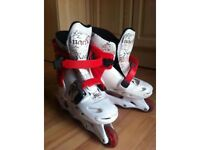 ADJUSTABLE INLINE SKATES - SIZES 2-4