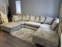 ~~ NEW SILVER BEAUTY NEAR YOUR TOWN ~~ 6 SEATER U SHAPE CORNER SOFA AVAILABLE NOW IN STOCK