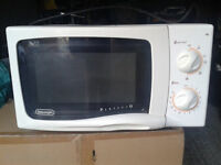 white microwave in very good condition only £20