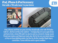 iPhone Accessory - Add FM Radio Tuner to your phone/ipod/ipad