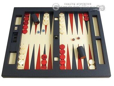 Zaza & Sacci Leather Table Top Backgammon Set - Large 26