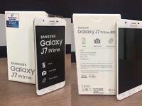 SAMSUNG GALAXY j7 PRIME BRAND NEW BOXED WARRANTY & SHOP RECEIPT