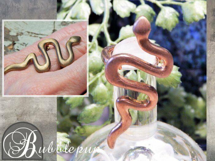 Designer Signed Vintage KENNETH JAY LANE KJL Snake Statement Ring 5.75