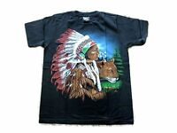 Native American Leopard T Shirt (Small) - Brand new Kids T shirt Indian Print
