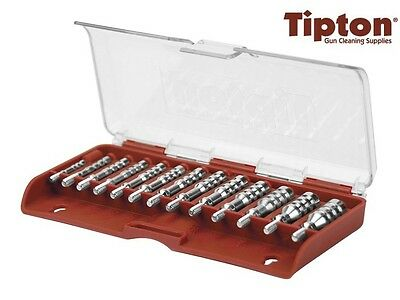 Tipton Ultra Cleaning Jag Set 13 PieceThreaded Nickel Plated Brass # 500012 New!