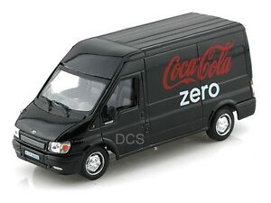 Motor-City-Classics-Ford-Transit-Van-Bus-Coke-Coca-Cola-Zero-1-43-Black-434735