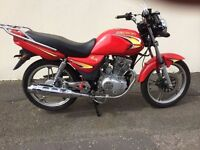 PRE-REG DEC 15 JINCHENG JC 125 MINT NO MILES NEVER USED ONLY £999 WAS £1499