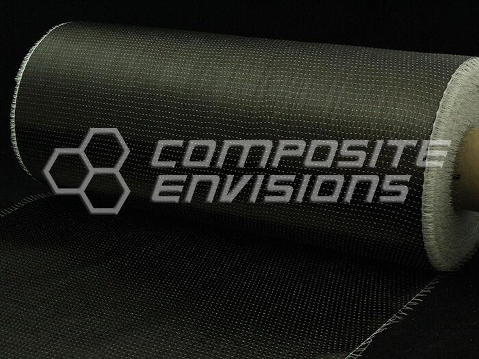 "Carbon Fiber Cloth Fabric UNI Directional 12k 8.8oz/300gsm 24"""