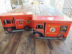 2 x Arnotts Collectable Biscuit Vintage Tins, truck Varsity Lakes Gold Coast South Preview