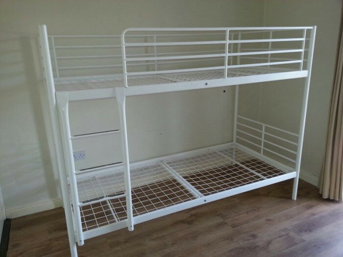 ikea tromso white metal bunk beds free delivery in frenchay bristol gumtree. Black Bedroom Furniture Sets. Home Design Ideas