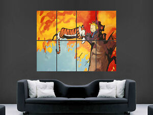 CALVIN AND HOBBES POSTER KIDS  WALL ART PICTURE PRINT LARGE GIANT