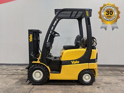 2014 Yale Glp030vx 3000lb Air Pneumatic Forklift Lpg Lift Truck Hi Lo 6283