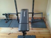Maximusle weight Bench with preacher pad, Lat pull down, Curl attachment and leg attachment