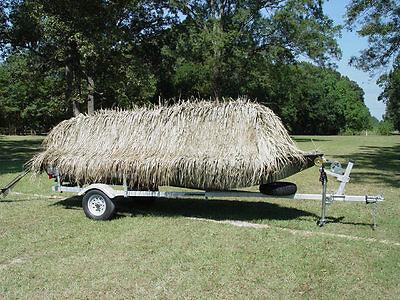 Best Grass Blind Mat Camo Boat Material 10- 4' x 4' Roll Duck Grass Mats     (Best Hunting Blinds)