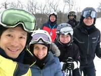 Fun Adult Group With Ski Improvement Lessons