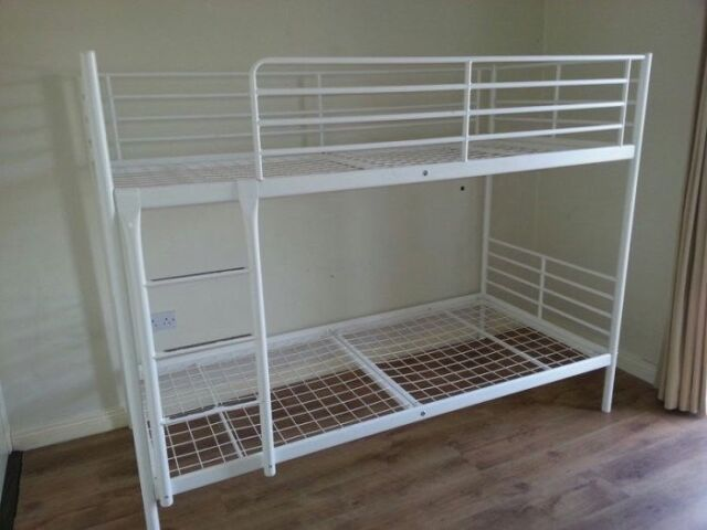 Ikea Tromso Single Bunk Beds White Metal Free Delivery In Solihull West Midlands Gumtree