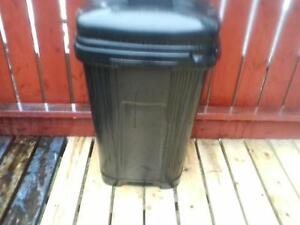 Garbage bucket with snap on cover