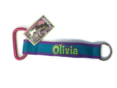 Girls Personalized Key Chain Lanyard with Carabiner (Personalized Carabiner)