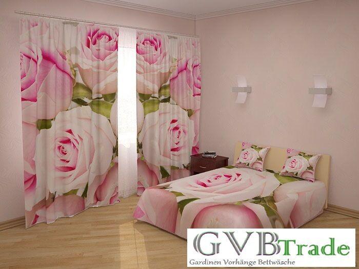 Bettüberwurf Tagesdecke Kissenbezug Foto Vorhang Gardinen 3D Fotodruck Natur SET