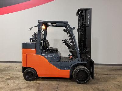 2014 Toyota 8fgc55u 12000lb Cushion Forklift Lpg Lift Truck Hi Lo 98208