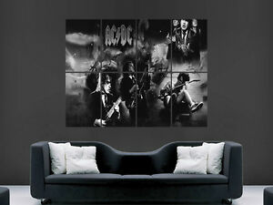 ACDC MUSIC BAND ROCK WALL POSTER ART PICTURE PRINT LARGE