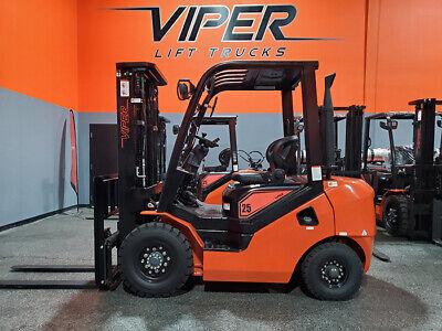 2021 Viper Fd25 5000lb Air Pneumatic Forklift Diesel Lift Truck Hi Lo 85189