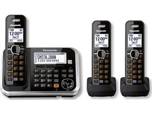 Panasonic KX-TG6843B DECT 6.0 Plus Cordless Phone System with Answering Machine