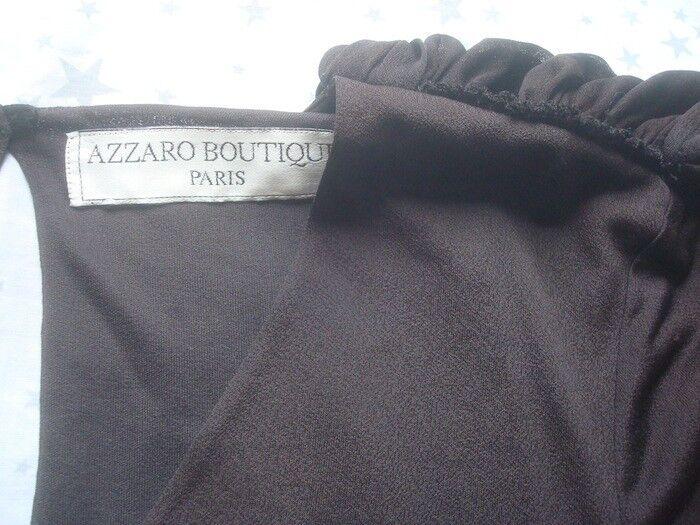 Robe azzaro 38 vintage soirÉe soie drapÉ sublime