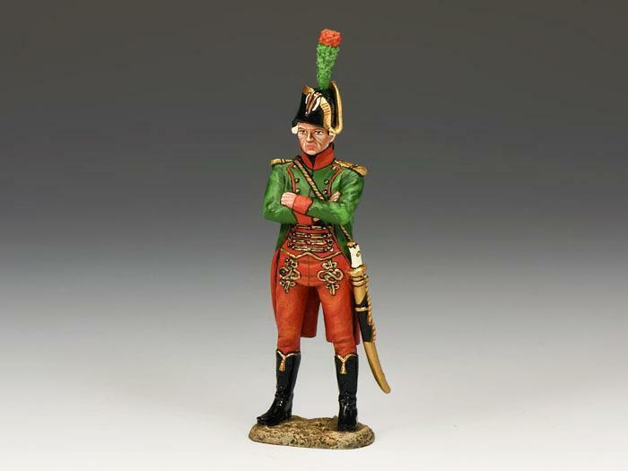 King & Country NE018 Napoleonic Fr Standing Guides Off - RETIRED - Mint in Box