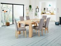 brand new Harveys Lindos Dining Table & 6 Lucy Chairs flat packed massive saving rrp £999