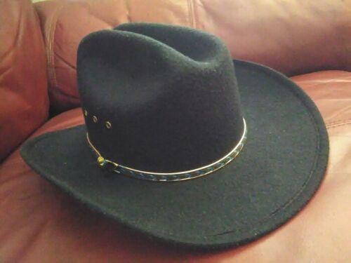 "Vintage WESTERN EXPRESS Cowboy Hat Ranch Worn Size 6 7/8"""