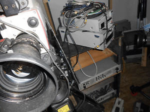 Video TV studio recorders,tripods,cables,dv recorder
