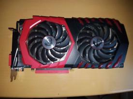 "MSI GTX 1060 gaming x 3gb graphics card ""faulty"""