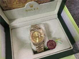 rolex day date champagne watch sale