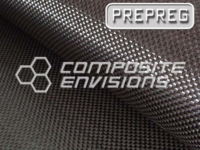 "Carbon Fiber Fabric Plain Weave 3k 193.26gsm/5.7oz 50"" AS4 PREPREG-5-Yards"