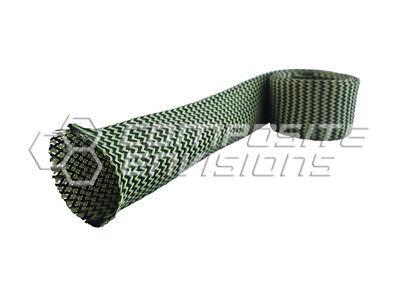 Carbon Fiber Made With Kevlar Fabric Sleeve 1.538.10mm Diameter 7.5oz 254gsm