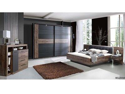 Schlafzimmer Bellevue mit Schwebetürenschrank inklusive Beleuchtung Bett 109877