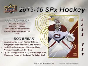 2015-16 Upper Deck SPx Hockey Cards Hobby Box Kitchener / Waterloo Kitchener Area image 4