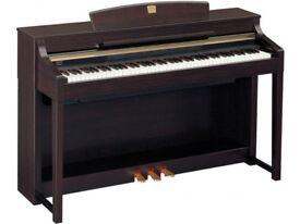 YAMAHA CLAVINOVA CLP-370 DIGITAL PIANO AND STOOL - TOP OF THE RANGE CLAVINOVA. FREE DELIVERY