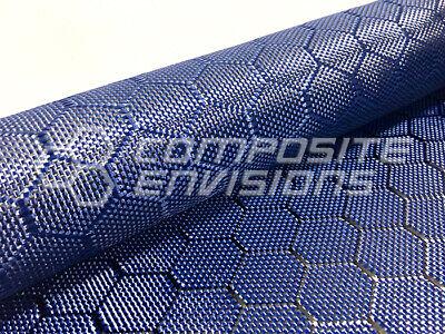 Carbon Fiberblue Aramid Hybrid Fabric Honeycomb 3k 50127cm 6.49oz220gsm